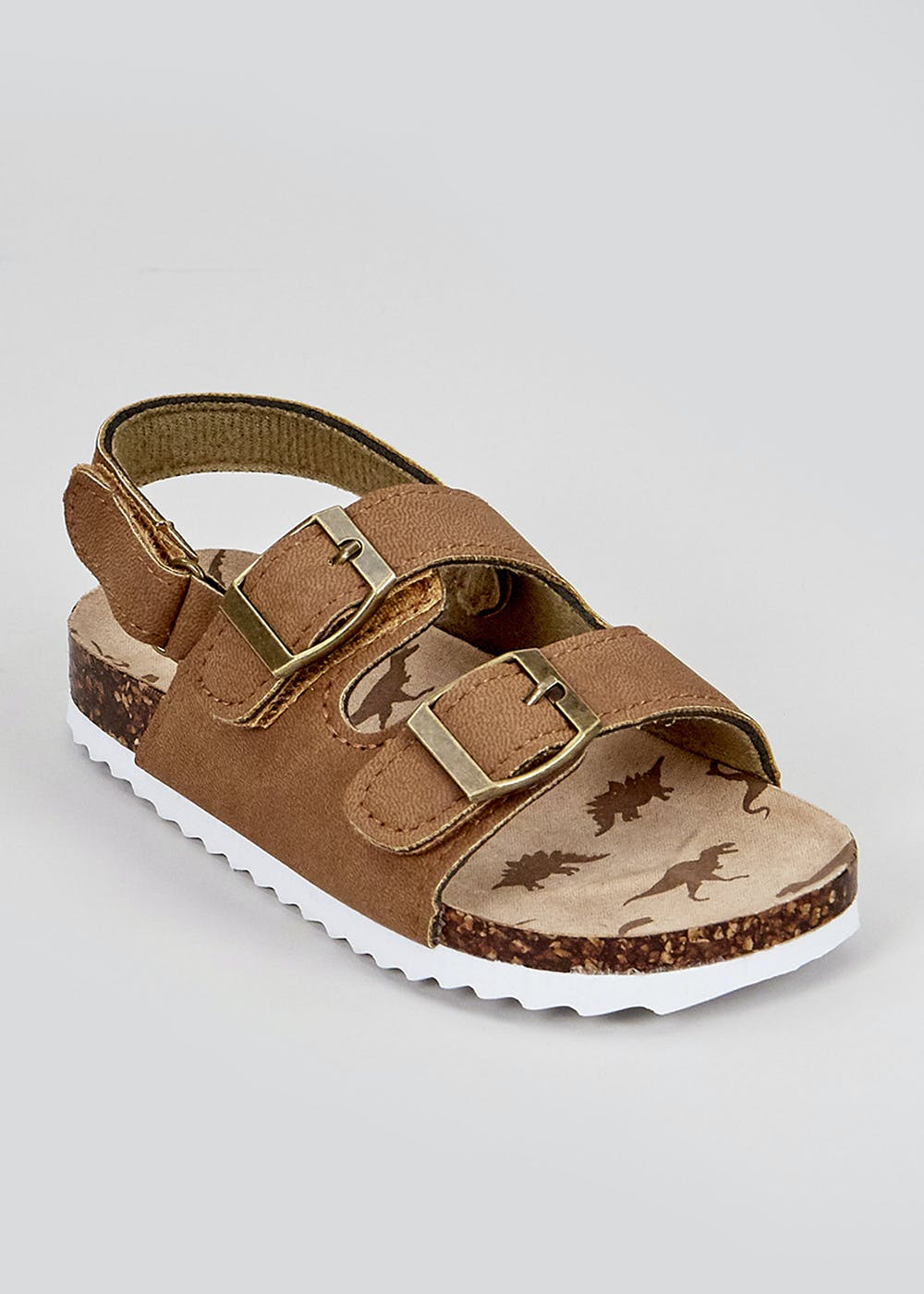 Boys Tan Footbed Sandals (Younger 4-12