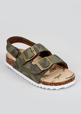 Boys Khaki Footbed Sandals (Younger 4-12)