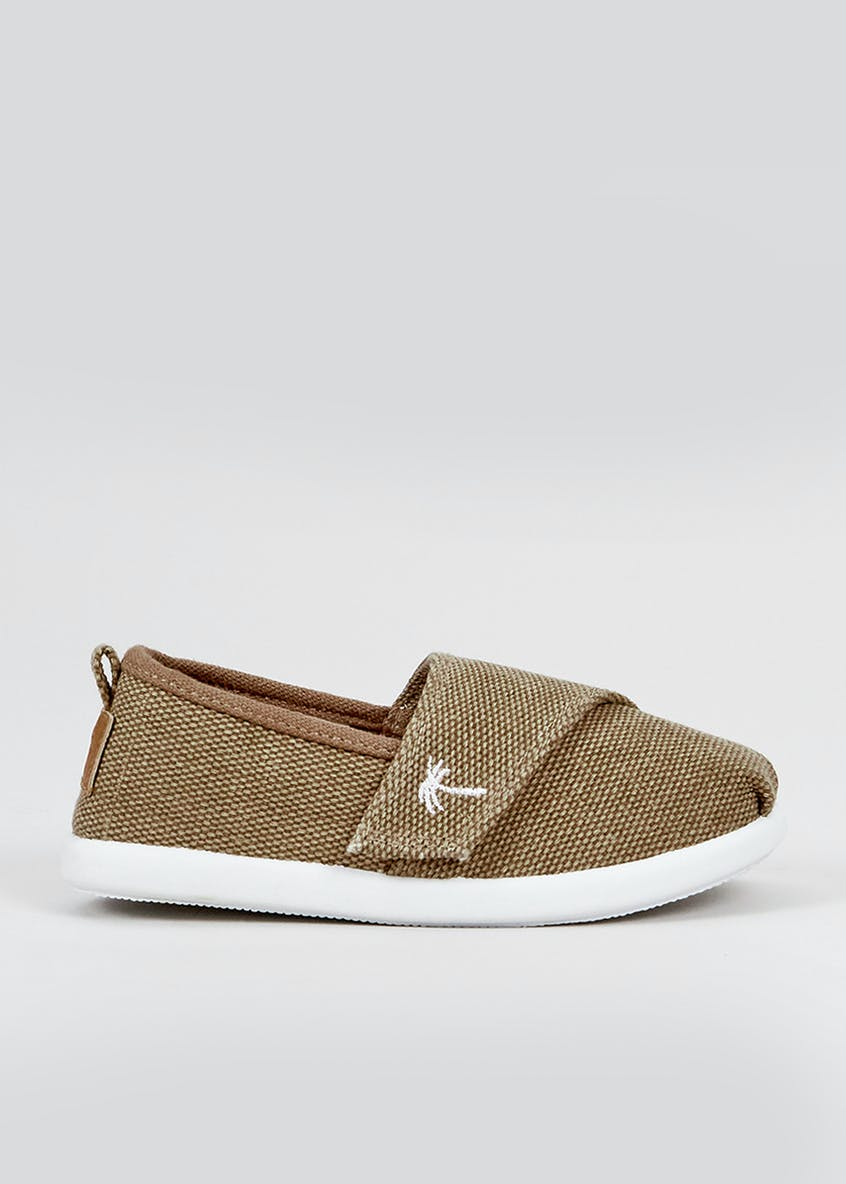 Boys Tan Slip On Plimsolls (Younger 4-12)