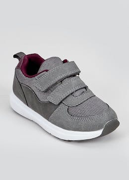 Boys Grey Retro Trainers (Younger 4-12)