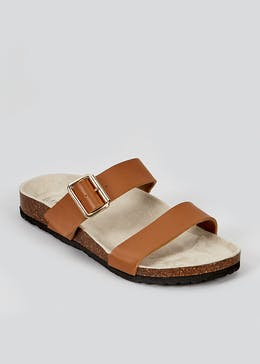 Tan Cork Sole Sandals