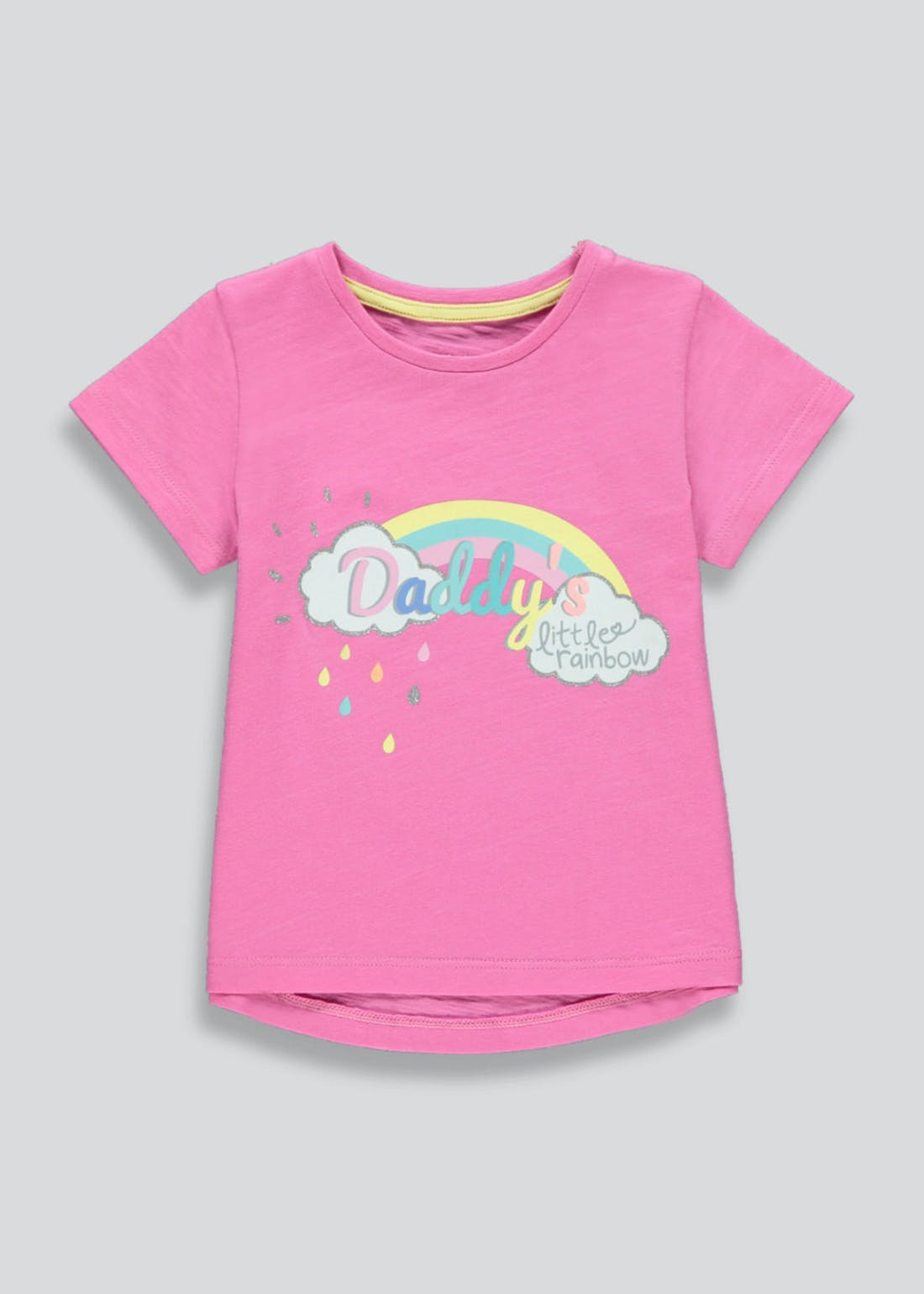 Girls Daddy's Little Rainbow T-Shirt (9mths-6yrs)