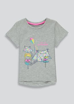Girls Camping Print T-Shirt (9mths-6yrs)