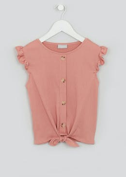 Girls Crinkle Jersey Top (4-13yrs)