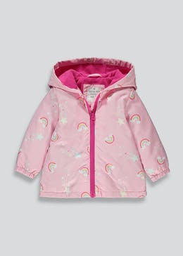 Girls Pink Colour Change Rainbow Mac (9mths-6yrs)