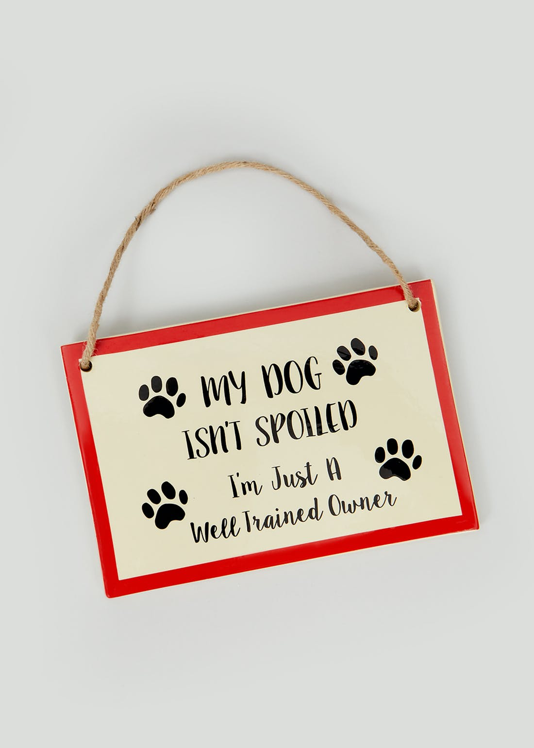 Hanging Dog Quote Plaque