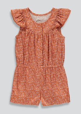 Girls Floral Ruffle Playsuit (9mths-6yrs)