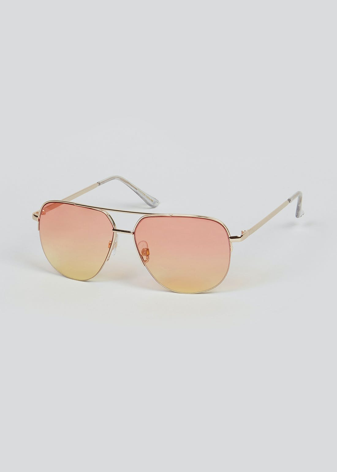 Foster Grant Frosted Wooden Arm Sunglasses