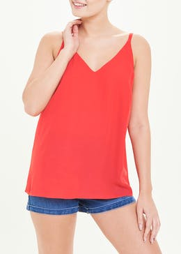 Red Double Strap Cami Top