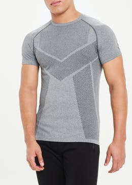 Souluxe Grey Seamless Gym T-Shirt