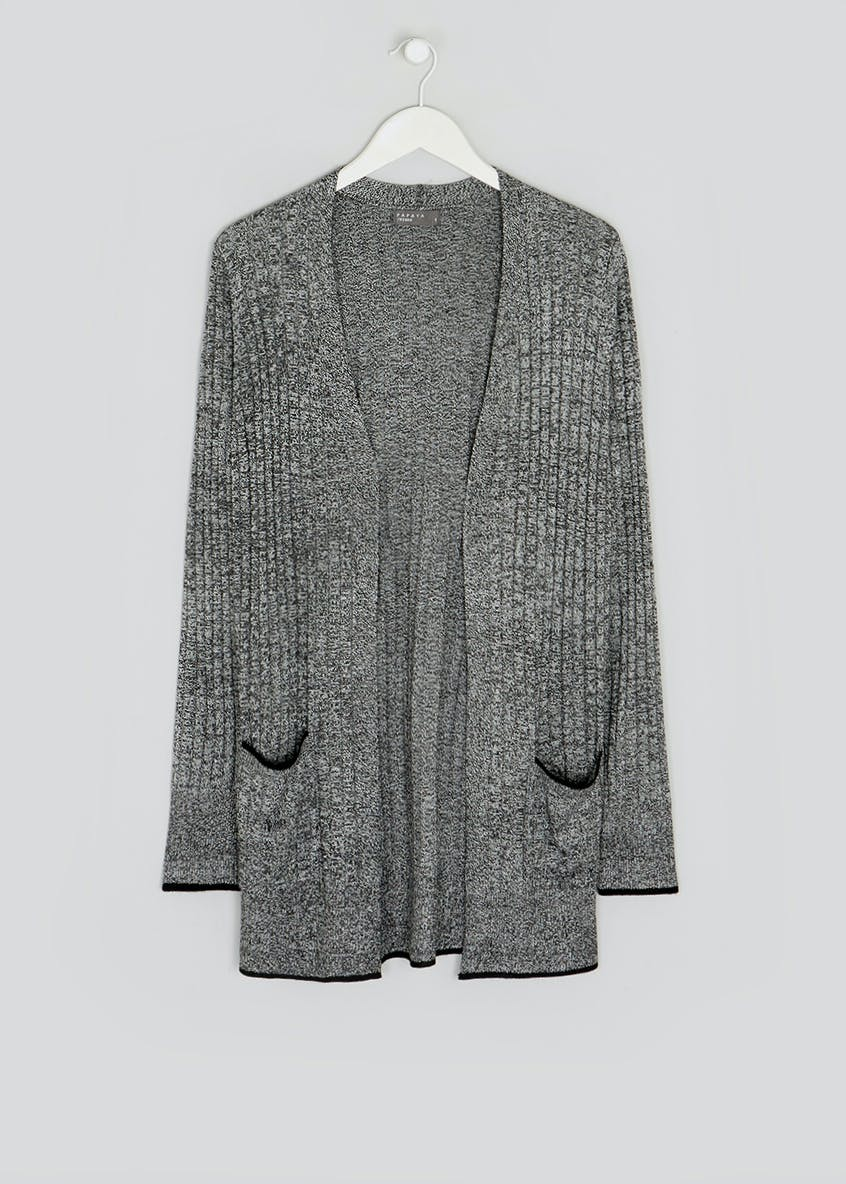 Ribbed Longline Cardigan
