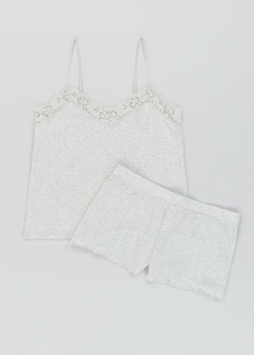 Lace Detail Cami Lounge Set