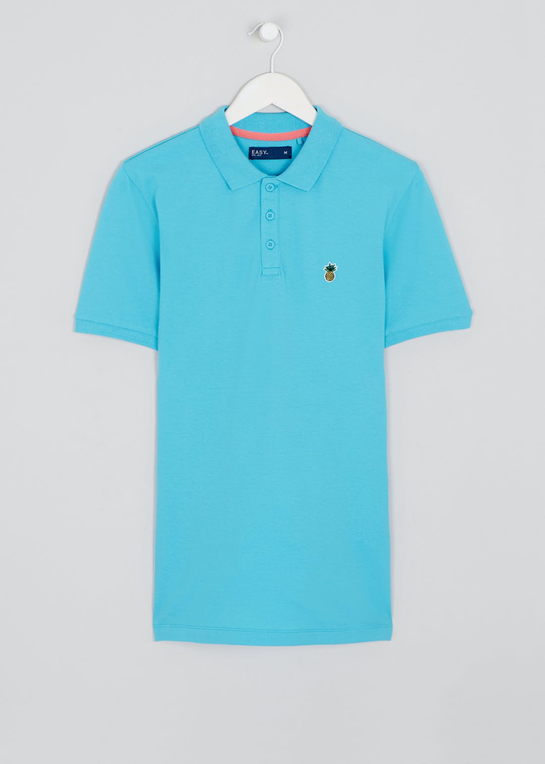 Short Sleeve Pineapple Badge Polo Shirt