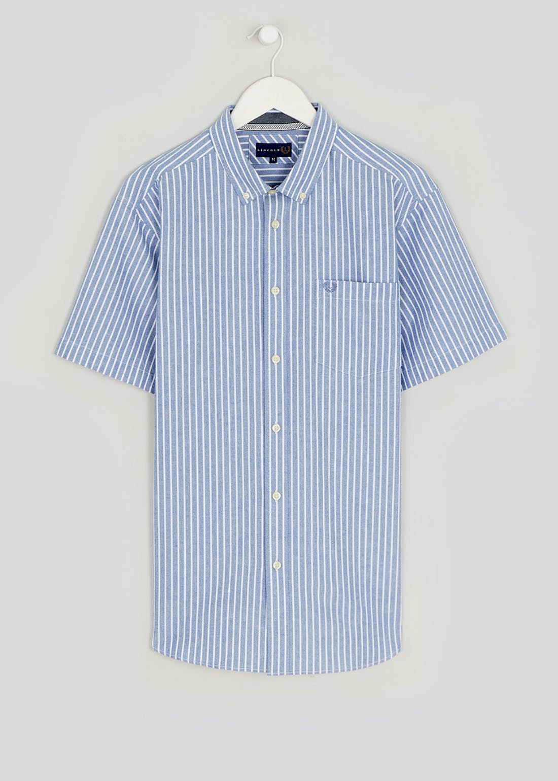 Lincoln Short Sleeve Stripe Oxford Shirt
