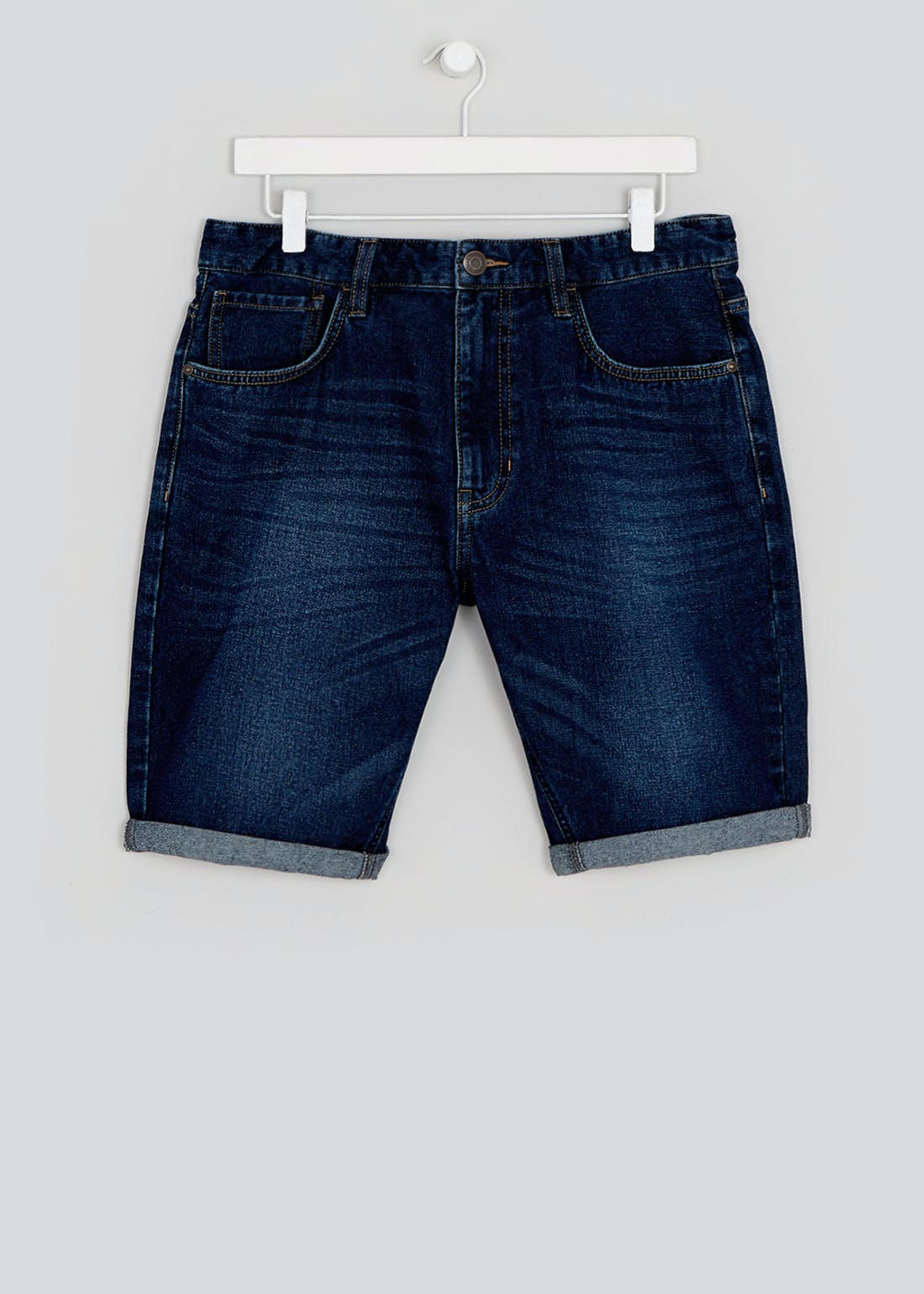Rigid Denim Shorts