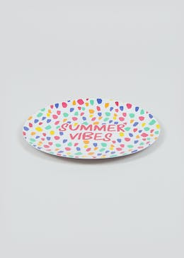 Summer Vibes Plastic Outdoor Dinner Plate (26cm)