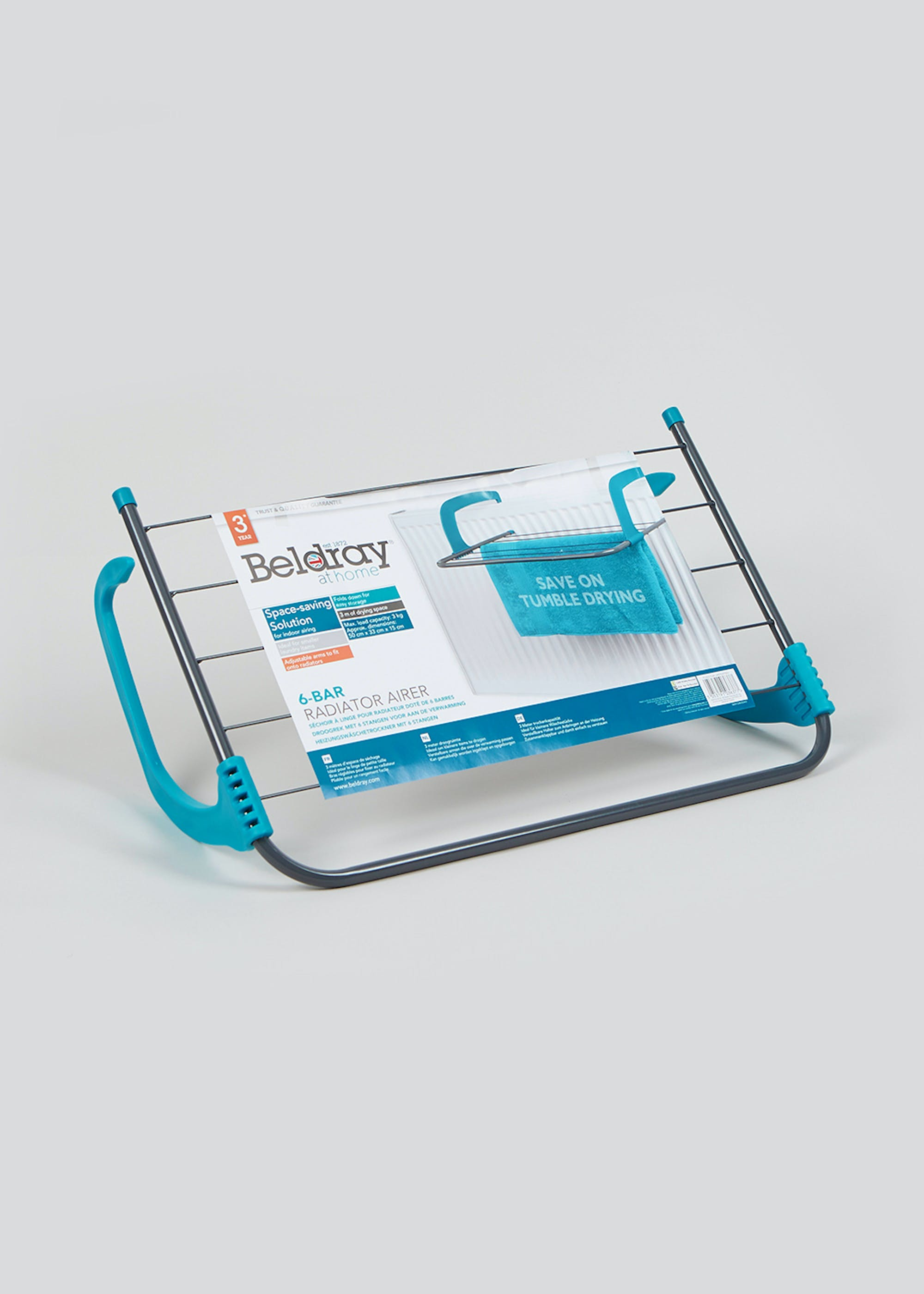 Beldray Radiator Airer (49cm x 33cm) Turquoise e0ryw3
