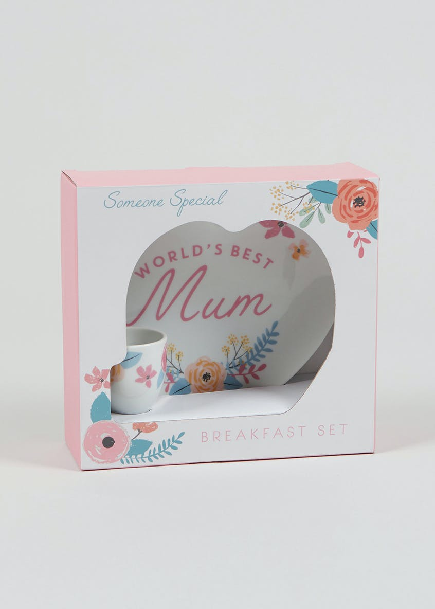World's Best Mum Breakfast Set (20cm x 19cm x 7.5cm)