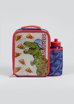 Kids Snackasaurus Lunch Bag & Water Bottle (26cm x 24cm x 10cm)