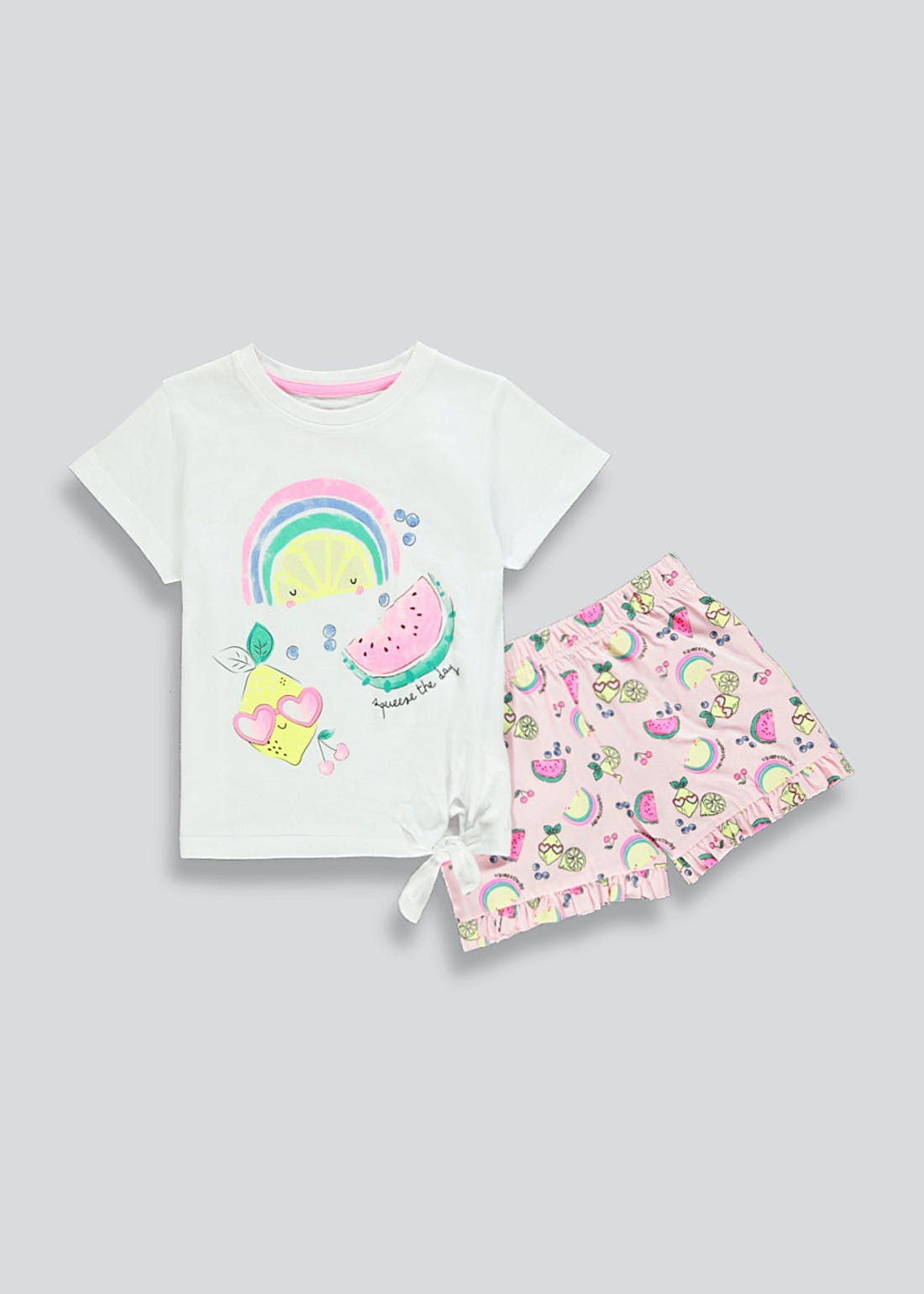 Girls Squeeze The Day Short Pyjamas (4-13yrs)