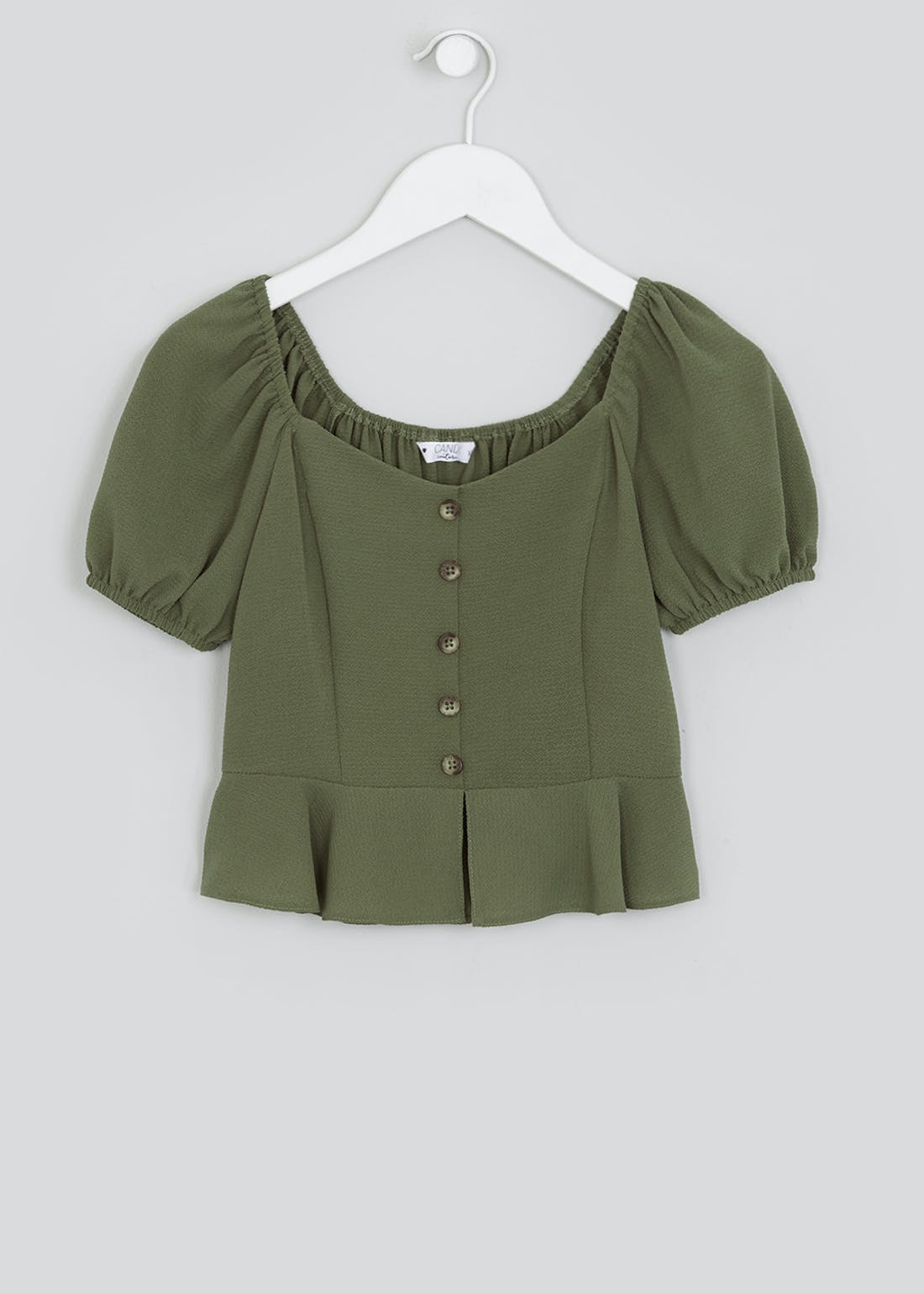 Girls Candy Couture Sweetheart Peplum Top (9-16yrs)