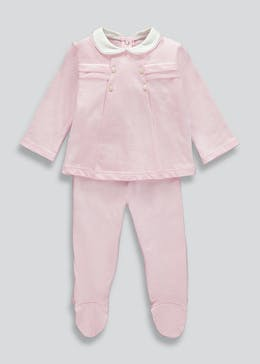 Girls Traditional 2 Piece Jersey Set (Tiny Baby-23mths)
