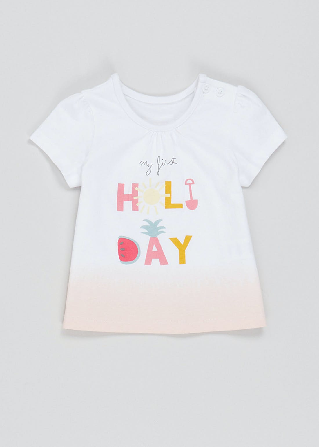 Girls My First Holiday T-Shirt (Newborn-23mths)