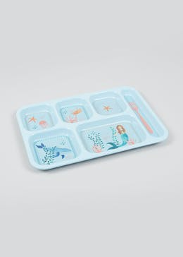 Kids Mermaid Plastic Divider Tray (37cm x 25cm x 2cm)