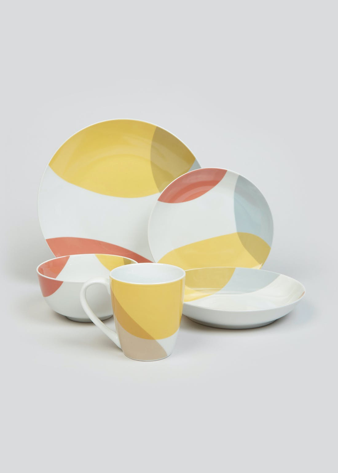 Abstract Print Side Plate (19.5cm)
