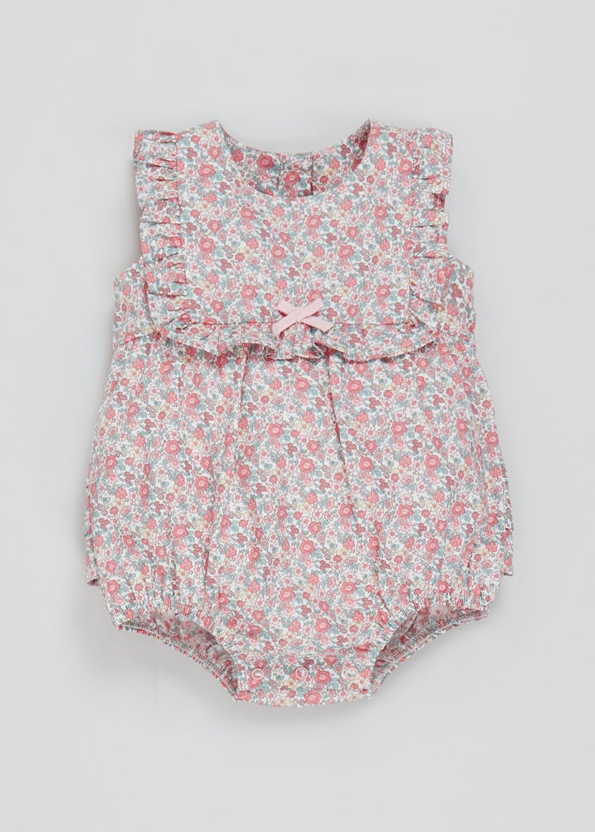 Girls Floral Sleeveless Romper (Newborn-23mths)