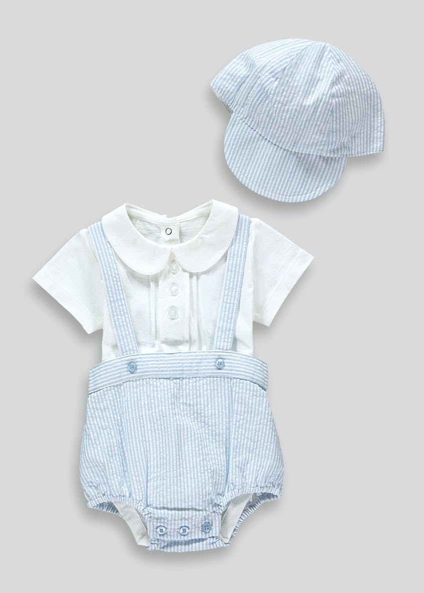 Boys Bodysuit & Cap Set (Newborn-23mths)