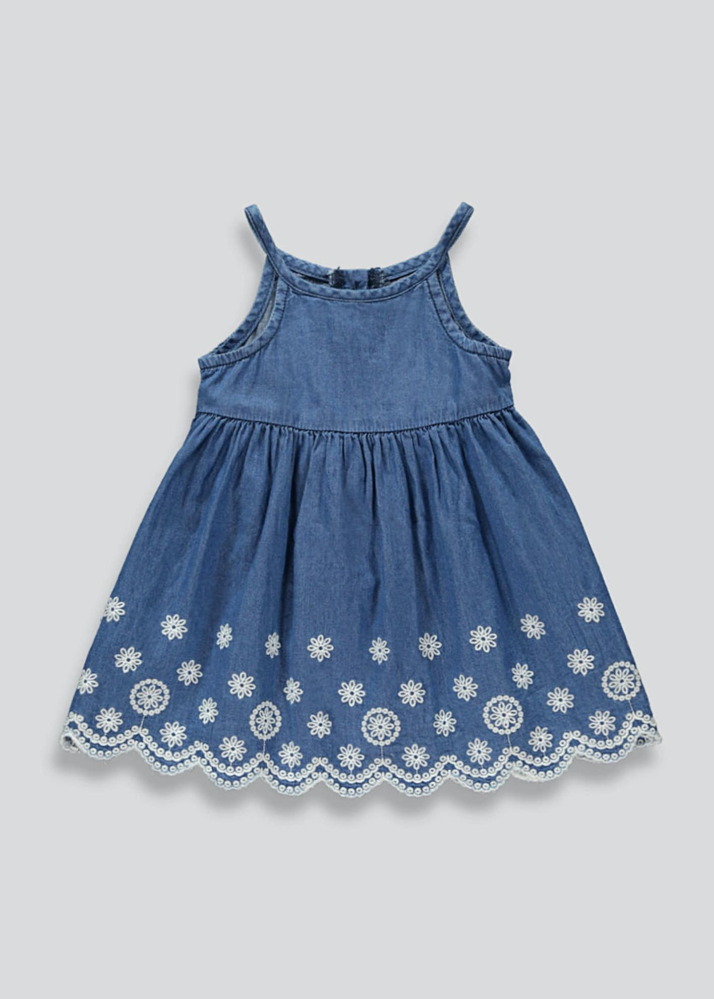 Girls Strappy Denim Dress (9mths-6yrs)