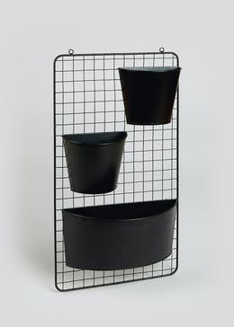 Outdoor Wire Wall Planter Set (56cm x 32.5cm x 9.5cm)