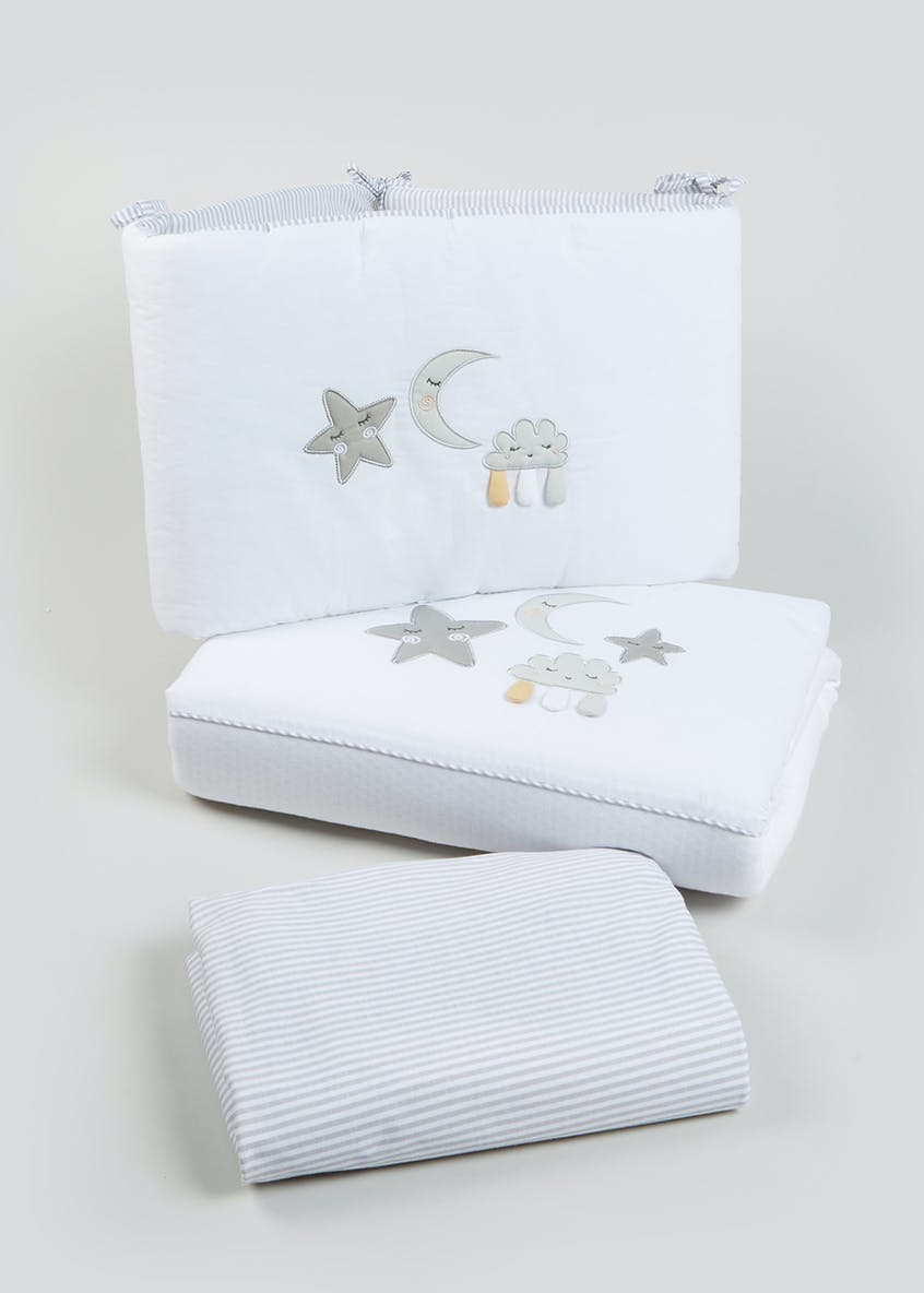 Moon & Star Cot Bed Set (One Size)