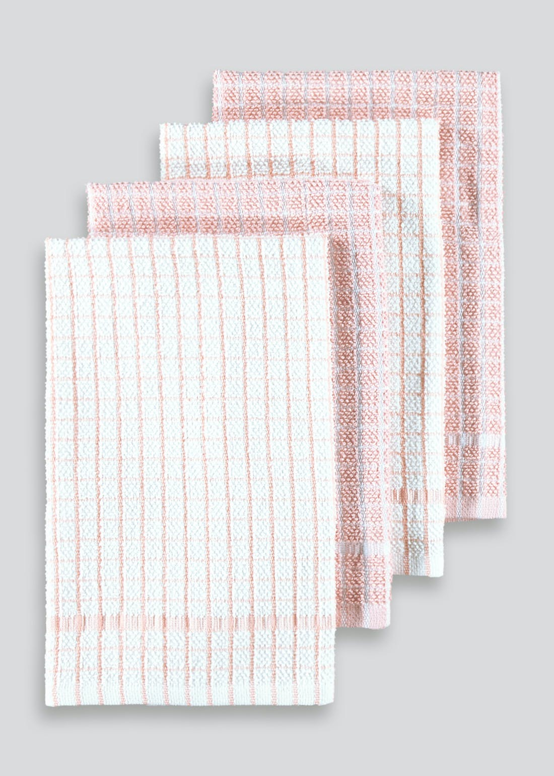 4 Pack Check Terry Tea Towels