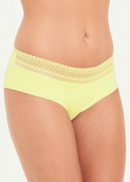 3 Pack Lace Trim No VPL Short Knickers