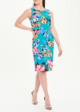 Soon Blue Sleeveless Floral Dress