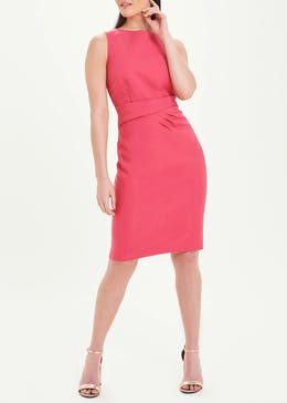 Soon Pink Sleeveless Scuba Dress