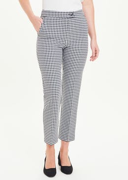 Gingham Tapered Trousers