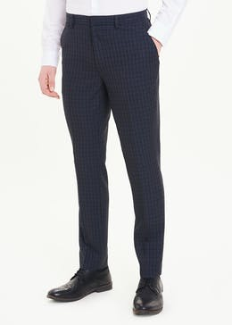 Taylor & Wright Skinny Fit Check Trousers