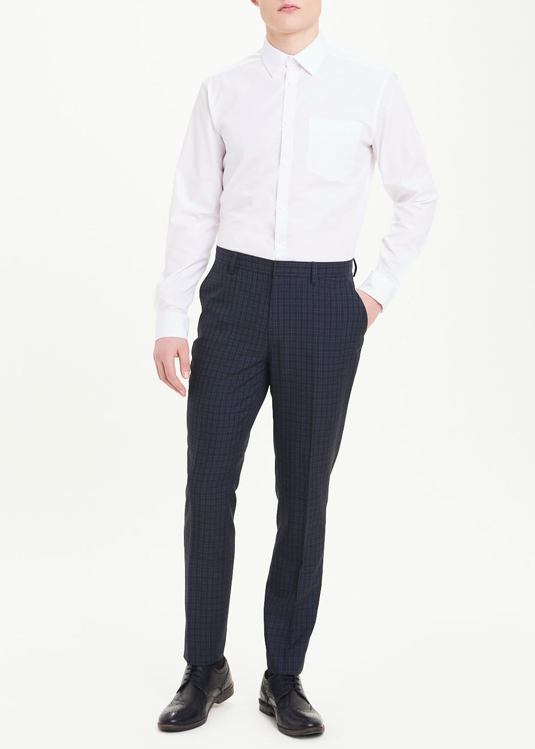 Taylor & Wright Calder Skinny Fit Check Trousers