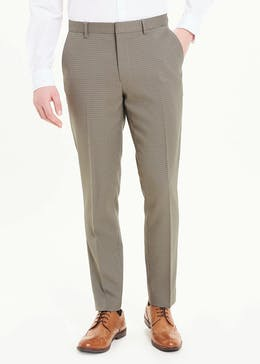 Taylor & Wright Skinny Fit Dogtooth Trousers