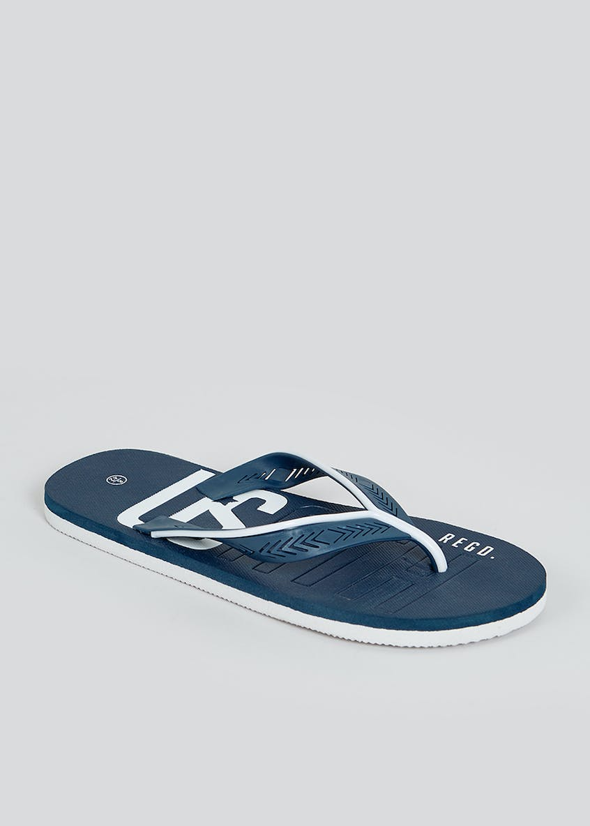 US Athletic Navy Flip Flops