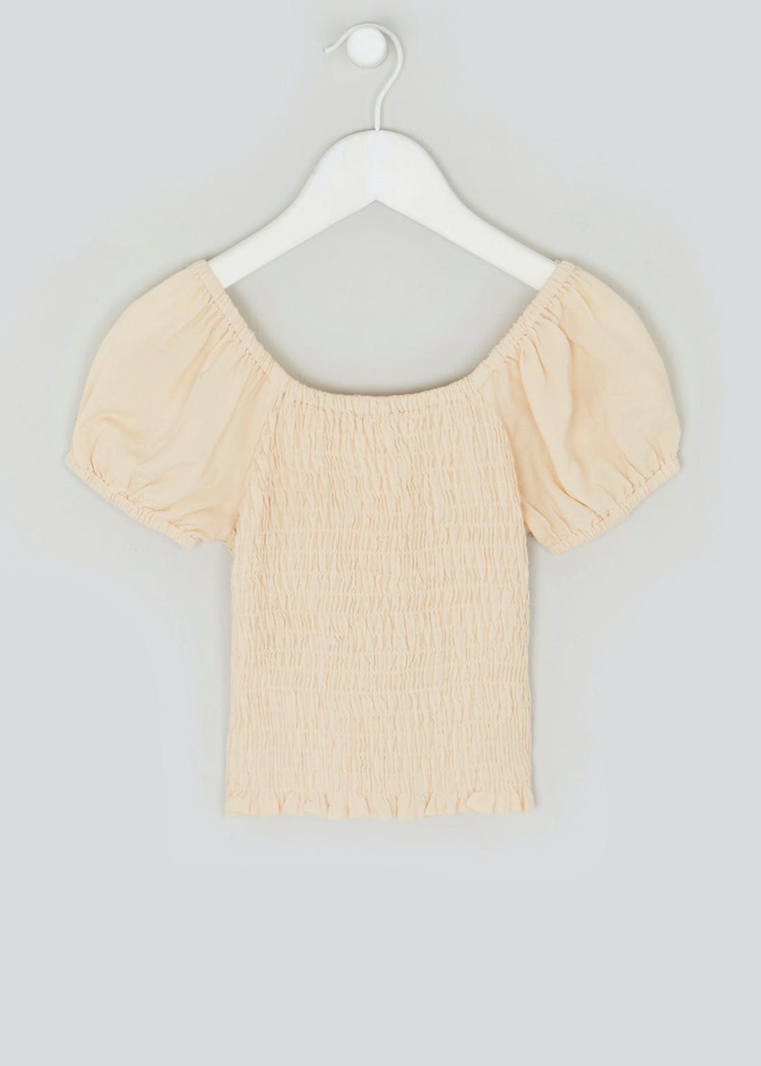 Girls Candy Couture Shirred Bardot Top (9-16yrs)