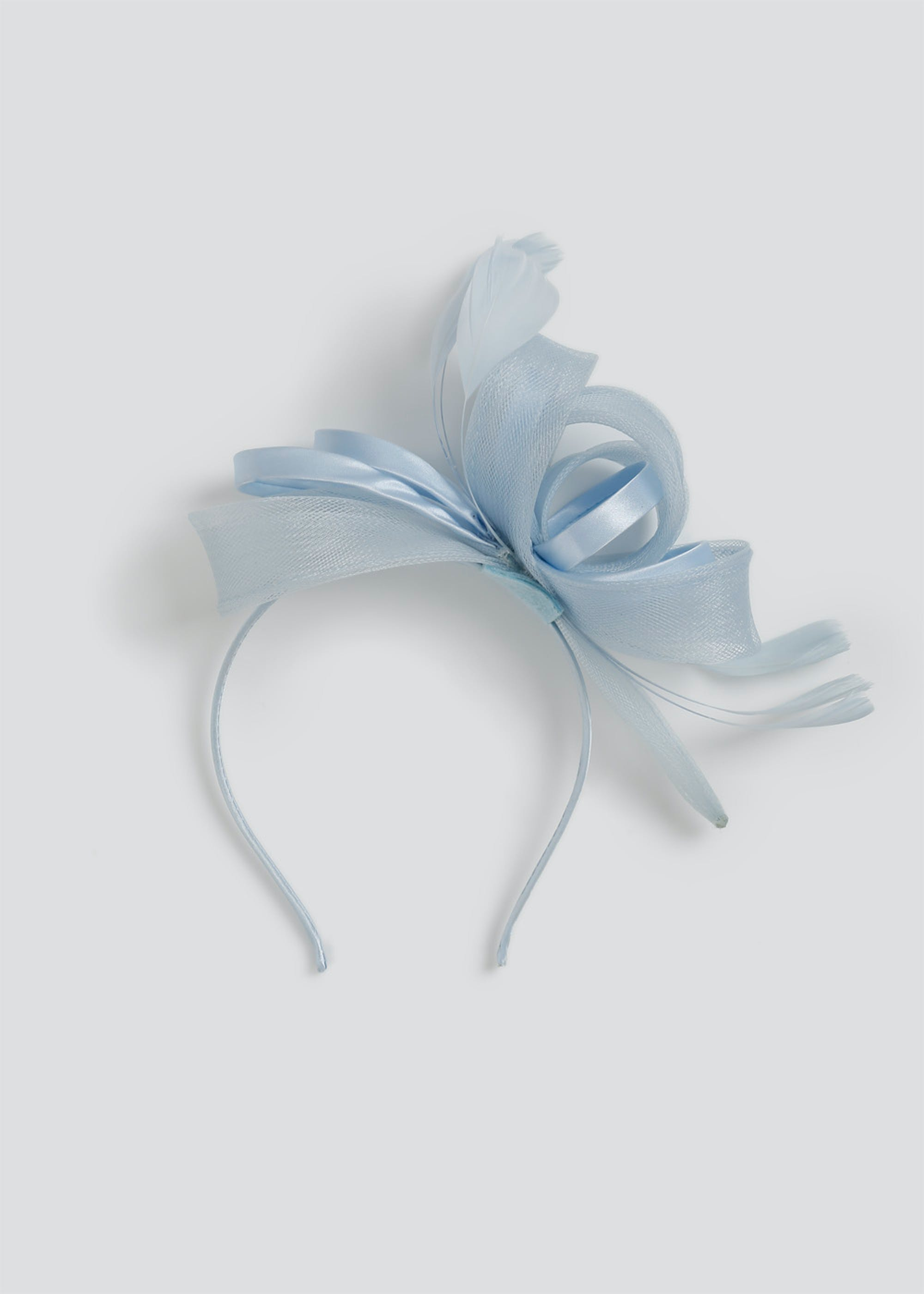 Loop Feather Fascinator Headband Sky Blue QWmCT6