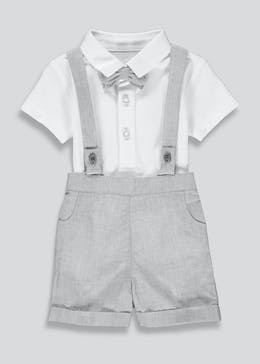 Boys Shorts Braces & Polo Shirt Set (Newborn-23mths)