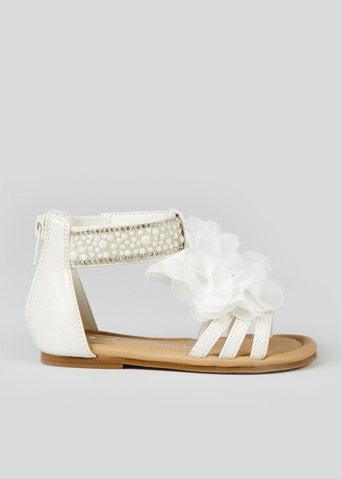 Girls White Occasion Sandals (Younger 4-9)