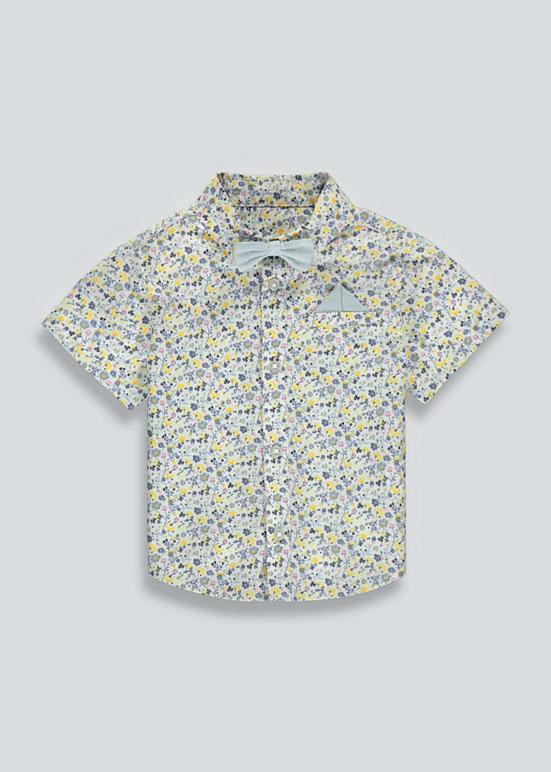 Boys Mini Me Short Sleeve Floral Shirt (9mths-4yrs)
