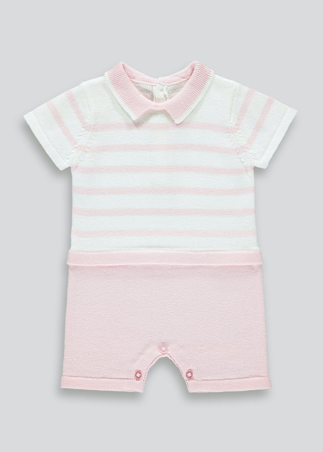 Girls Knitted Romper (Tiny Baby-23mths)