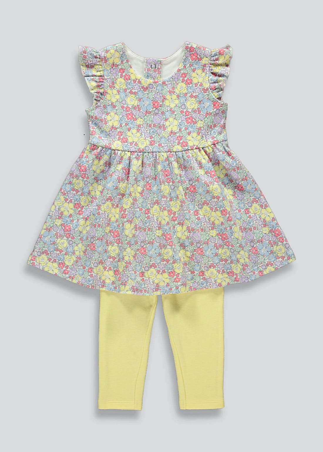 Girls Floral Dress & Leggings Set (Tiny Baby-23mths)